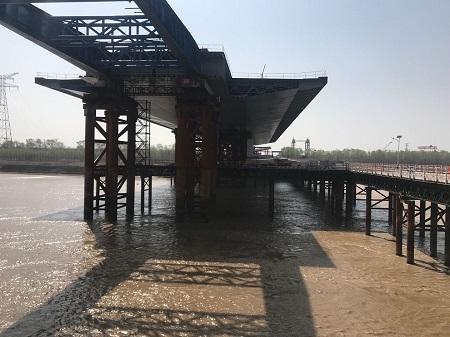 精量电子-为齐鲁黄河大桥项目提供液压同步顶升系统